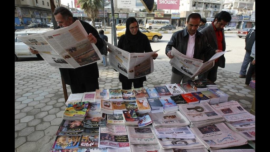 Bara delar av Wikileaks uppgifter når ut i arabisk press. Foto:Mia Gröndahl