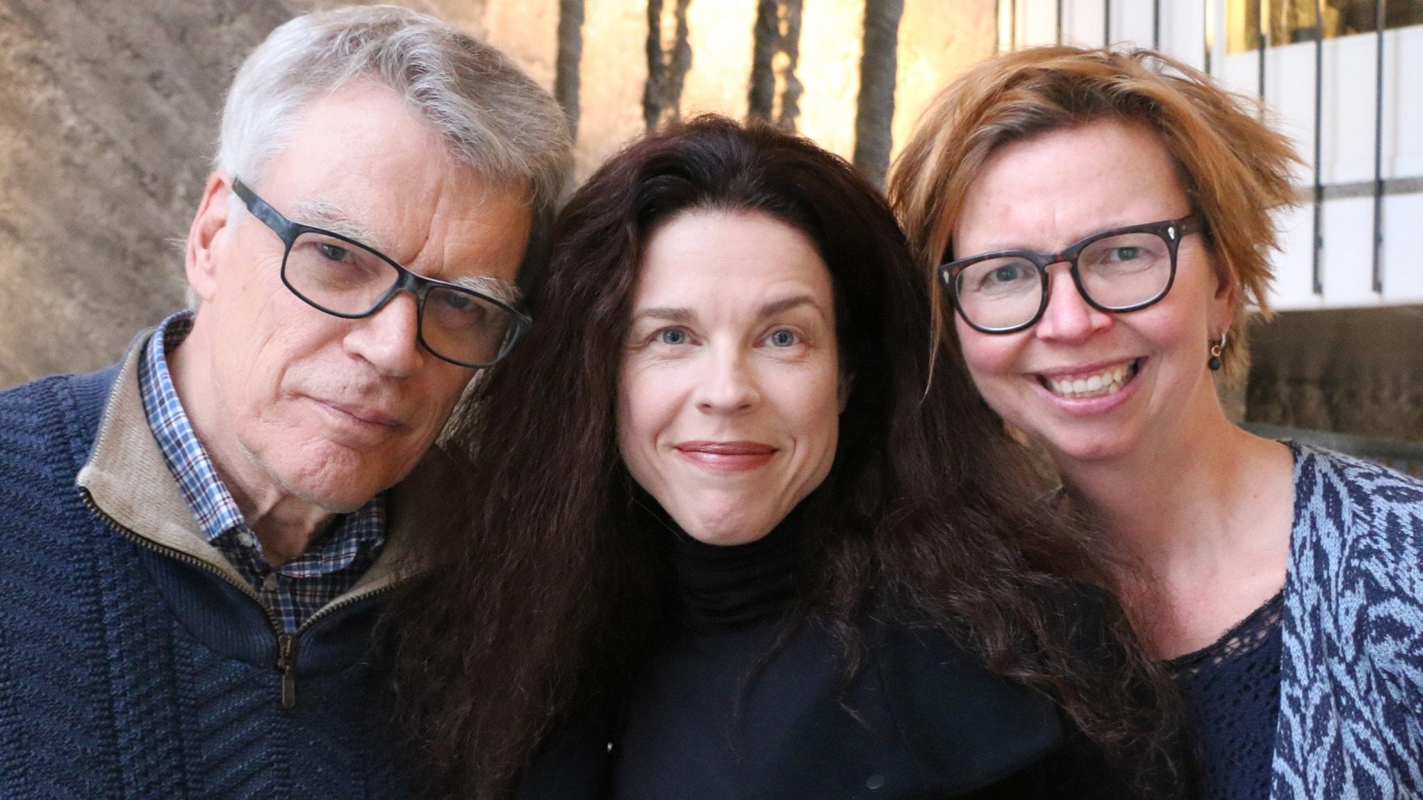 Jessika Gedin, Jonas Hallberg och Maja Aase