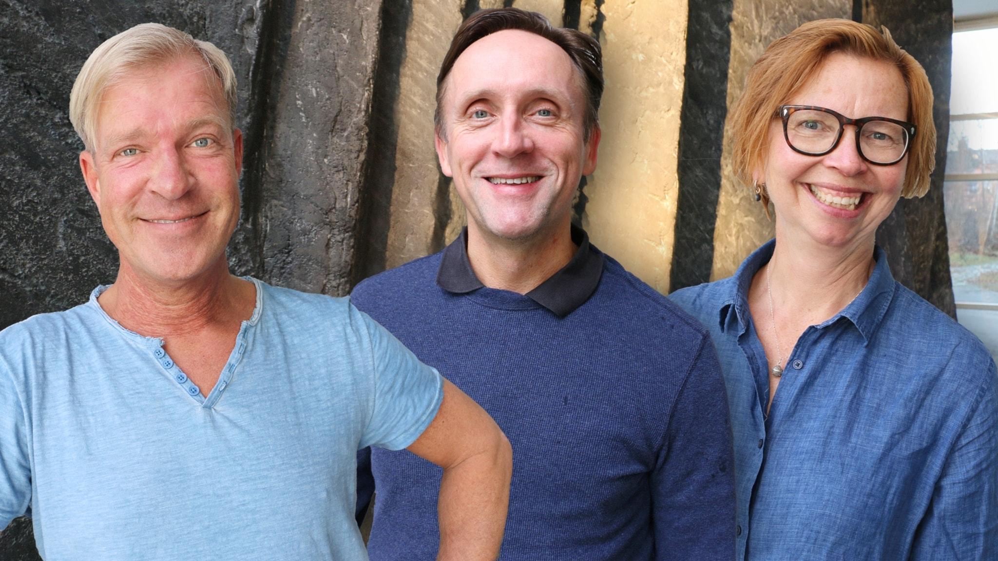 Göran Everdahl, Maja Aase och Calle Norlén