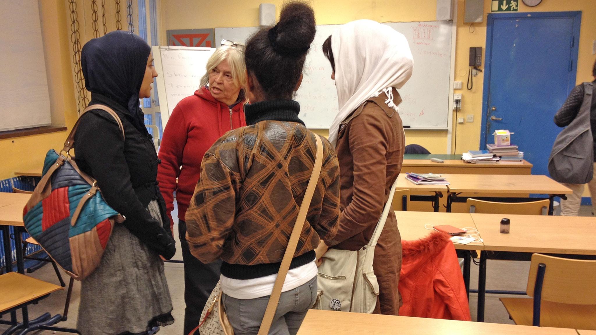Börja skolan i väntan på asyl