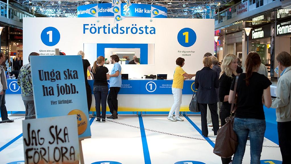 Förtidsröstning i Göteborg. Foto: Björn Larsson Rosvall/Scanpix