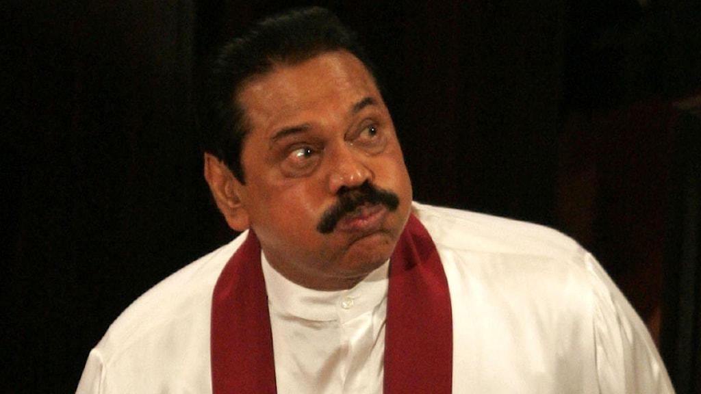 Sri Lankas president Mahinda Rajapaksa. Foto: Chamila Karunarathne/Scanpix.