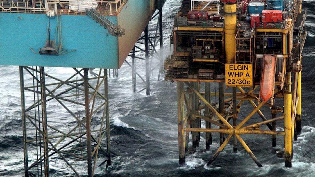 Företaget Totals gasplattform i Nordsjön.Foto: Total E&P/Scanpix.