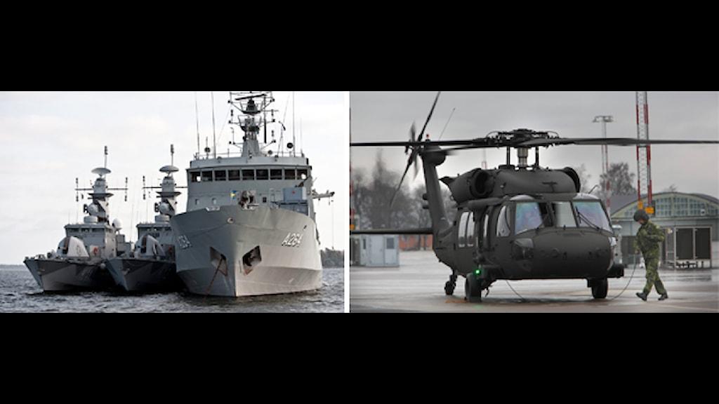 Försvaret har inte råd med både marinen och armén enligt ÖB. Foto. Scanpix