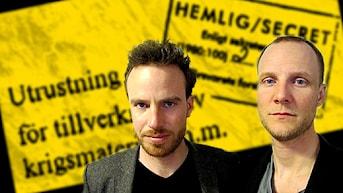 Ekots grävande reportrar Daniel Öhman och BG Bodin. Foto: Maria Aros/Sveriges Radio.