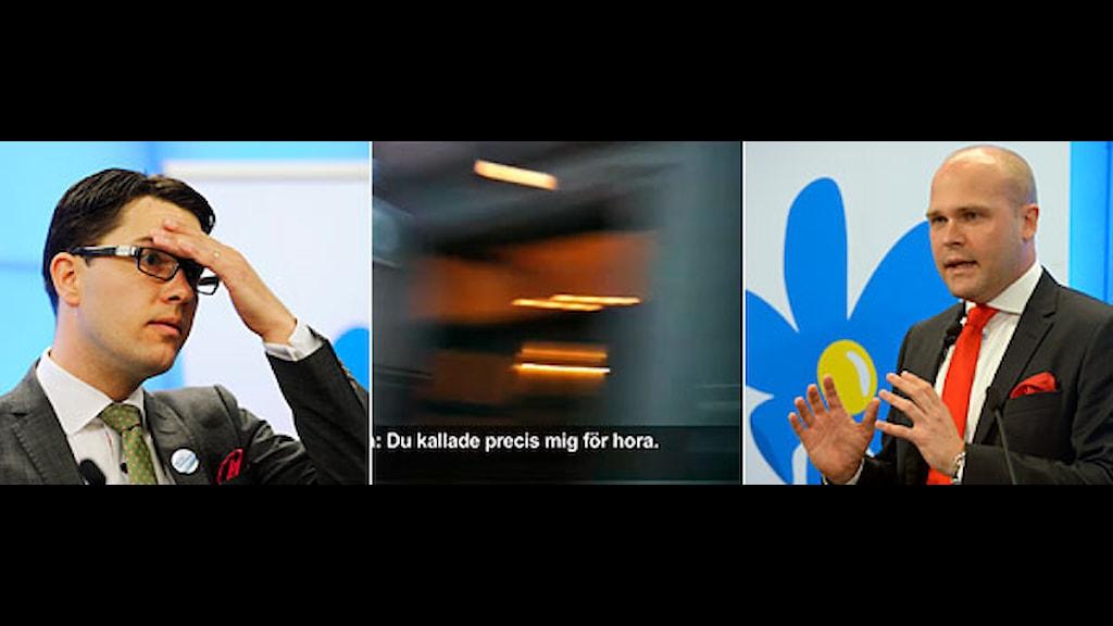 Jimmie Åkesson och Erik Almqvist, Sverigedemokraterna.