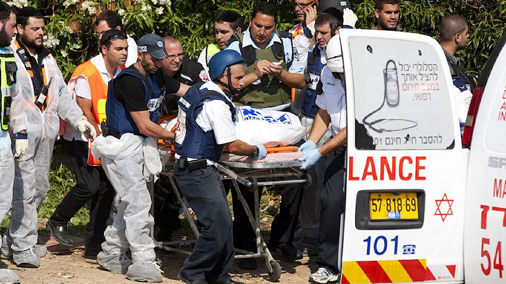 Three people were killed in a rocket attack in the Israeli town, Kiryat Malachi. Photo: Ariel Schalit/Scanpix.
