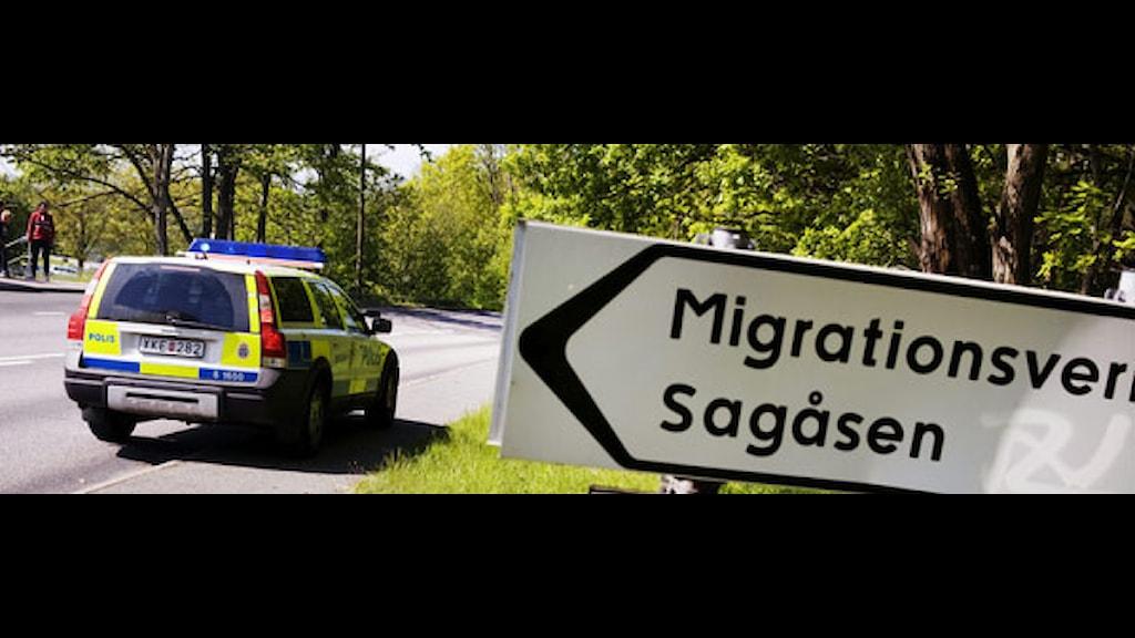 På onsdagseftermiddagen rymde fem män från förvarsenheten på Migrationsverkets anläggning Sagåsen i Kållered utanför Göteborg. Foto: Erik Abel/Scanpix