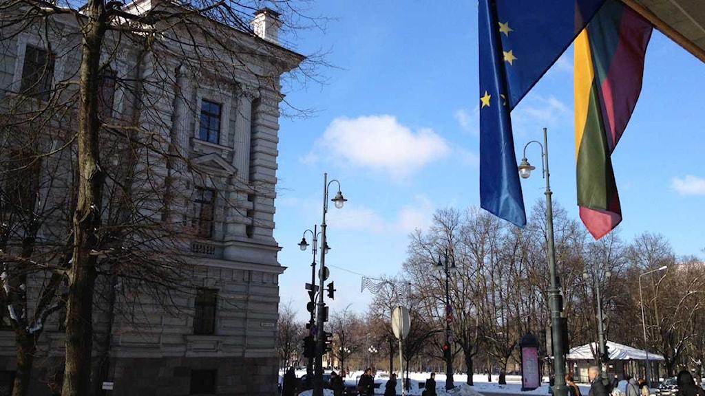 Energiministeriet i Vilnius. Foto: Jenny Sanner Roosqvist/Sveriges Radio