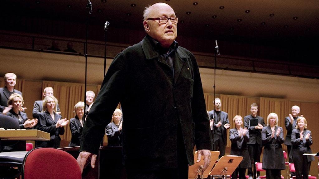 Eric Ericson utsågs till Radiokörens hedersdirigent 2009. Foto: Sveriges Radio.
