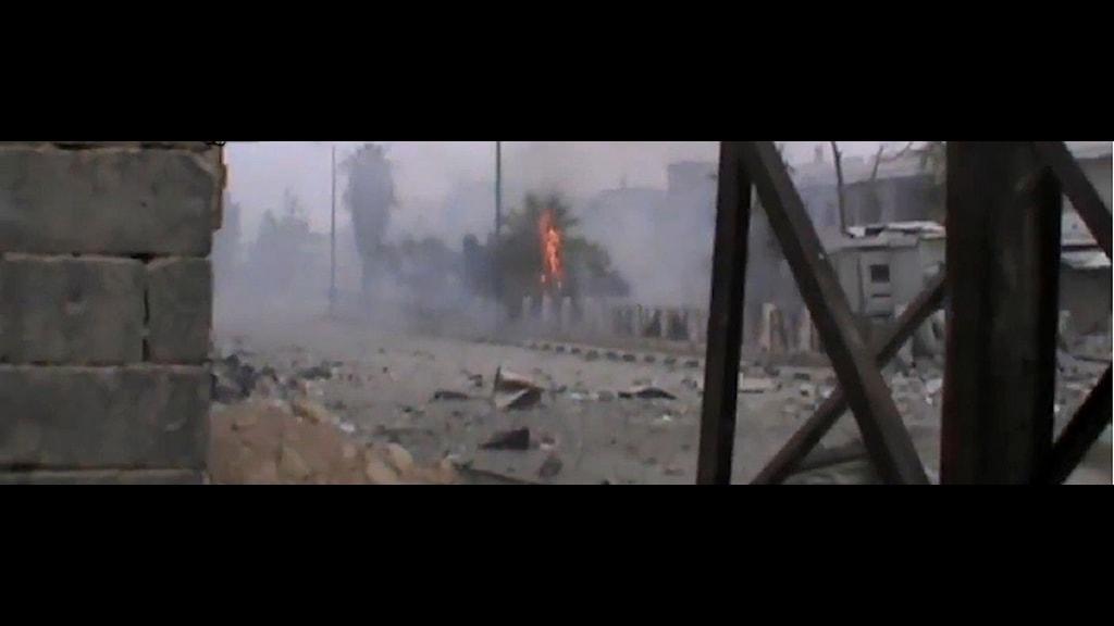 En uppladdad bild från Youtube som uppges vara från al-Qusayr. Foto: al-Qusayr Media Center/Scanpix.
