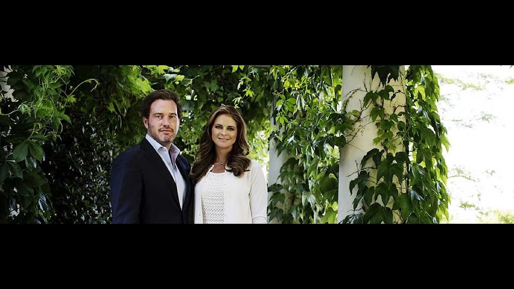 Christopher O'Neill och prinsessan Madeleine på Sollidens slott 13 juli 2013. Foto: Linus Sundahl-Djerf/Scanpix.