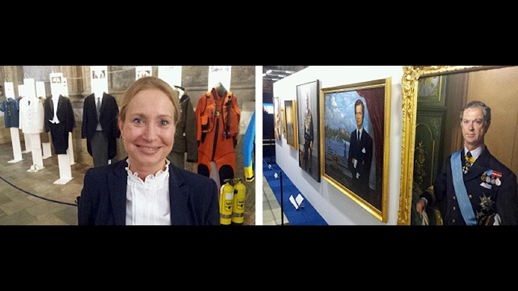 Överintendent Margareta Nisser Dalman tycker att det har varit roligt att arbeta fram utställningen. Foto: Bengt Hansell/Sveriges Radio.