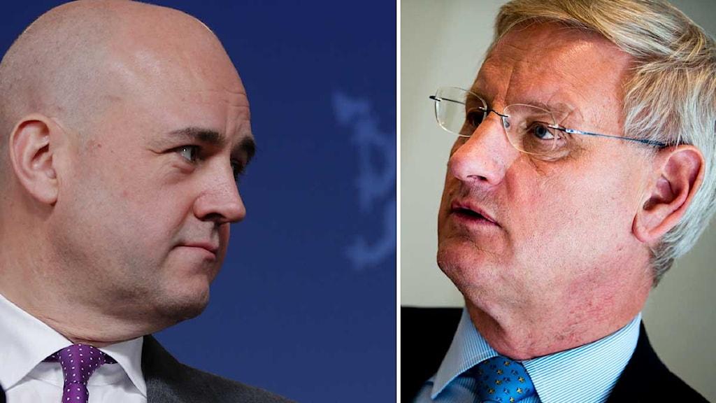 Fredrik Reinfeldt och Carl Bildt.