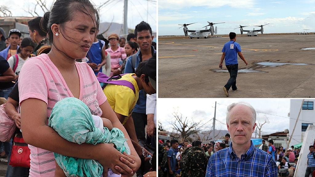 Bilder från Tacloban där Ekots Nils Horner är på plats. Foto: Nils Horner/Sveriges Radio.