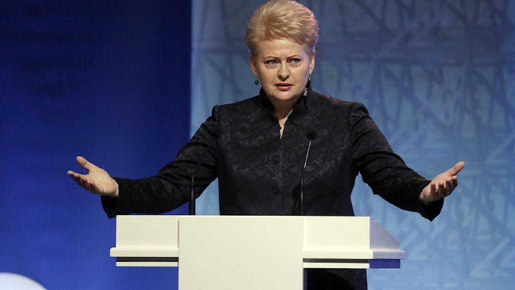 Litauens president Dalia Grybauskaite.
