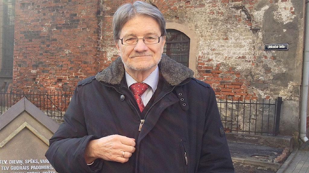 Oron finns också i Saeima, det lettiska parlamentet säger Atis Lejins, vice ordf i EU-utskottet och ledamot i Utrikesutskottet. Foto: Jenny Sanner Roosqvist/SR