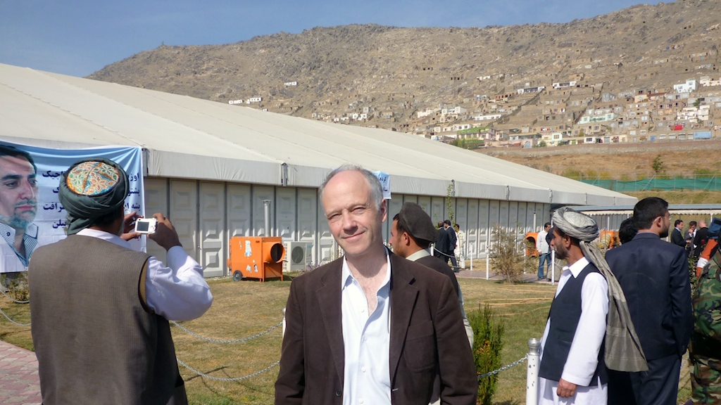 Nils Horner in Kabul in 2009. Photo: Sveriges Radio.