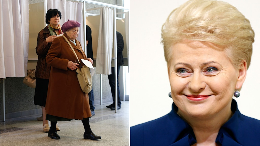 Grybaskaite spås vinna presidentval i Litauen