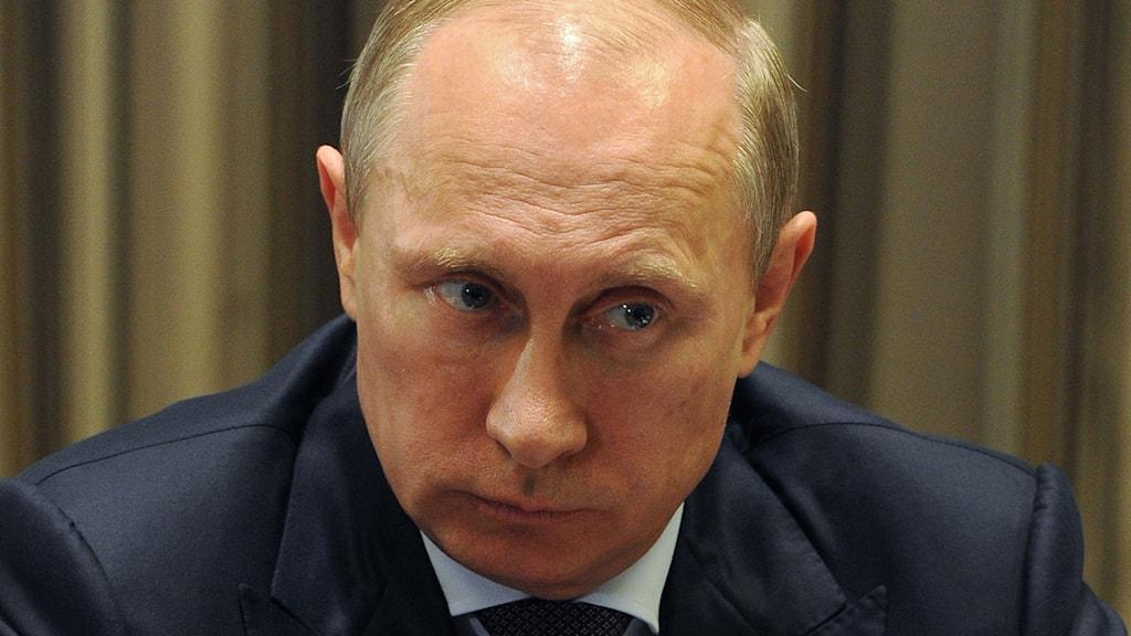 Vladimir Putin. Foto: Mikhail Klimentyev/TT.