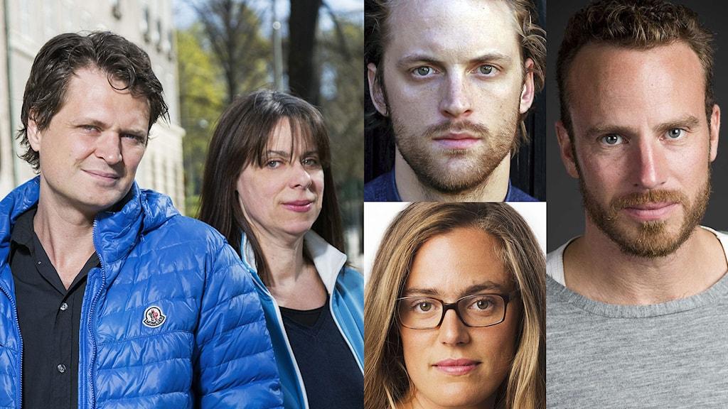 Kollage: Daniel Velasco och Ylva Lindgren, Hugo Lavett, Lotten Collin och Daniel Öhman. Foto: Mattias Ahlm/Sveriges Radio, Maja Lavett och Johan Ljungström/Sveriges Radio