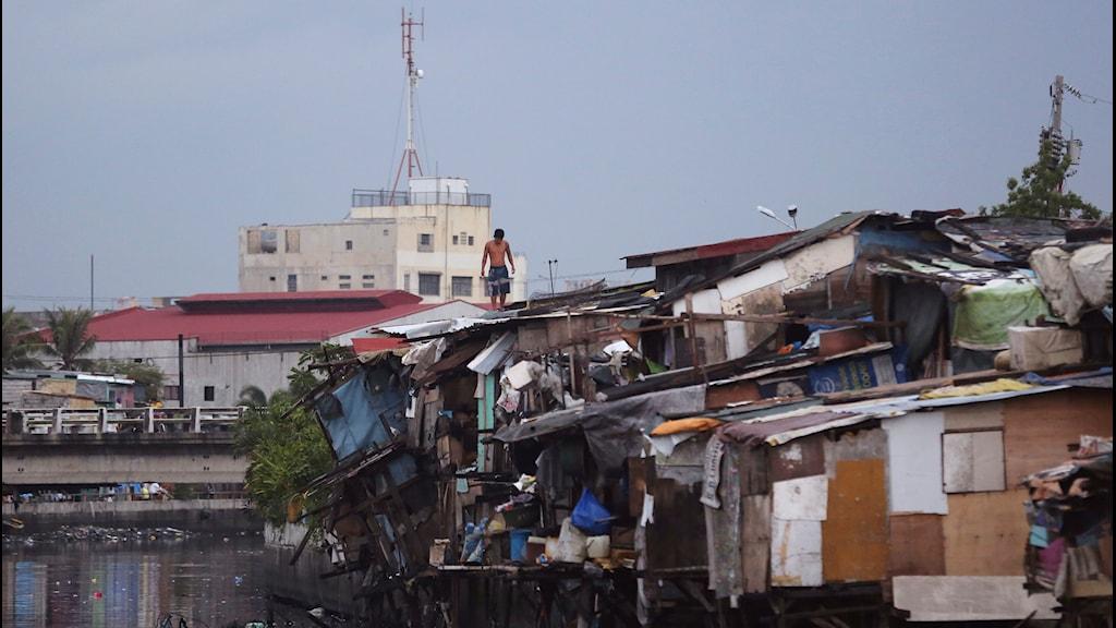 Filippinerna tyfon, i närheten av Manilla juli 2014.