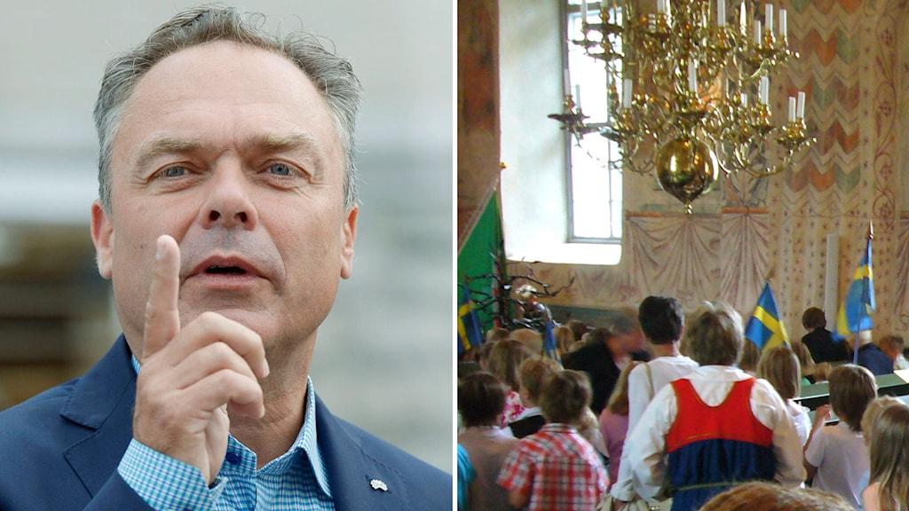 Björklund vill ha fler skolavslutningar i kyrkan. Foto: TT