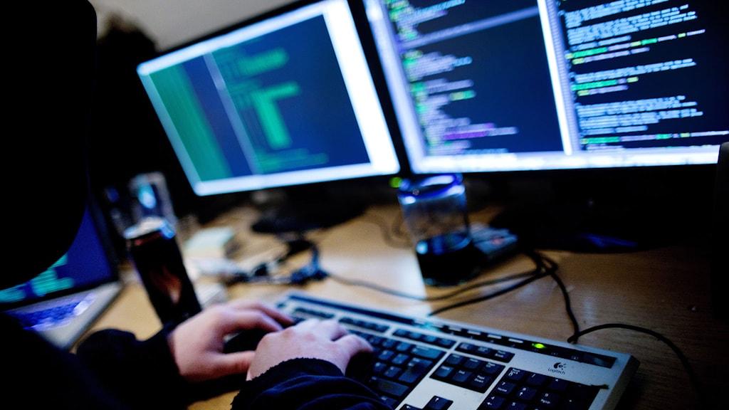 Genrebild för hackerattack. Foto: TT Nyhetsbyrån