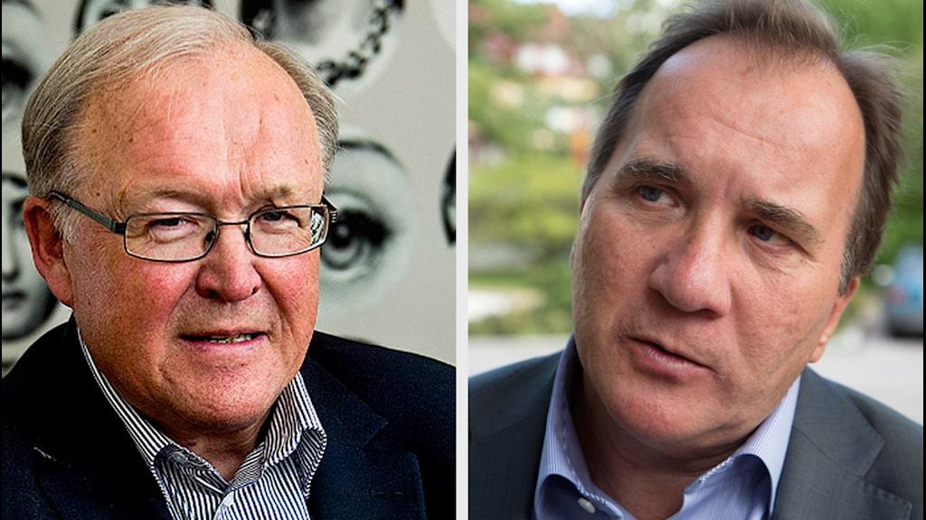 Göran Persson och Stefan Löfven. Foto: TT