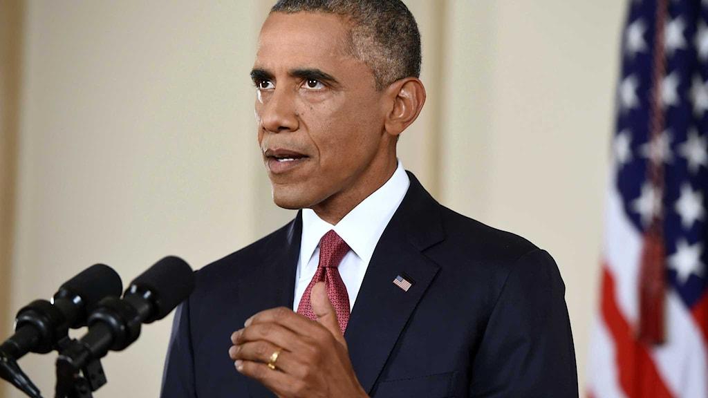 President Barack Obama talar till nationen