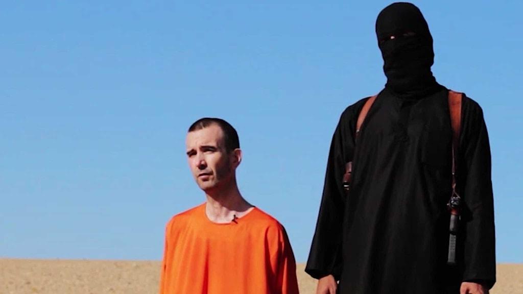 Video som ska visa den brittiske hjälparbetaren David Haines innan han mördas av Isis. Foto: TT