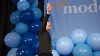 Moderaternas partiledare Fredrik Reinfeldt vid valet 2010. Foto: Henrik Montgomery /TT.