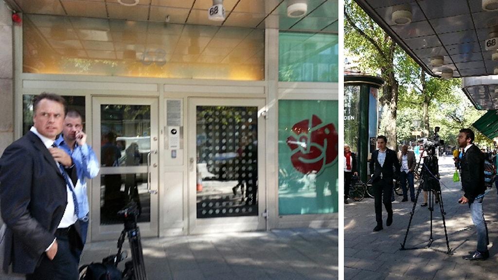 Sveavägen vid Socialdemokraternas högkvarter. Foto: SR