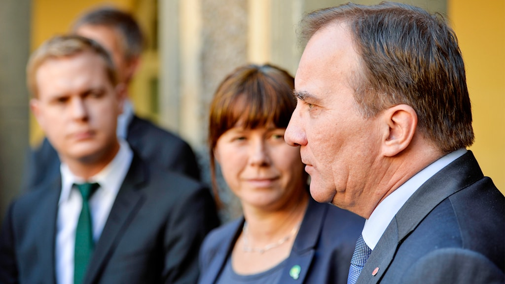 Gustav fridolin (MP), Åsa Romson (MP), Stefan Löfven (S)