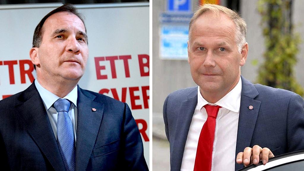 Stefan Löfven och Jonas Sjöstedt. Foto: TT
