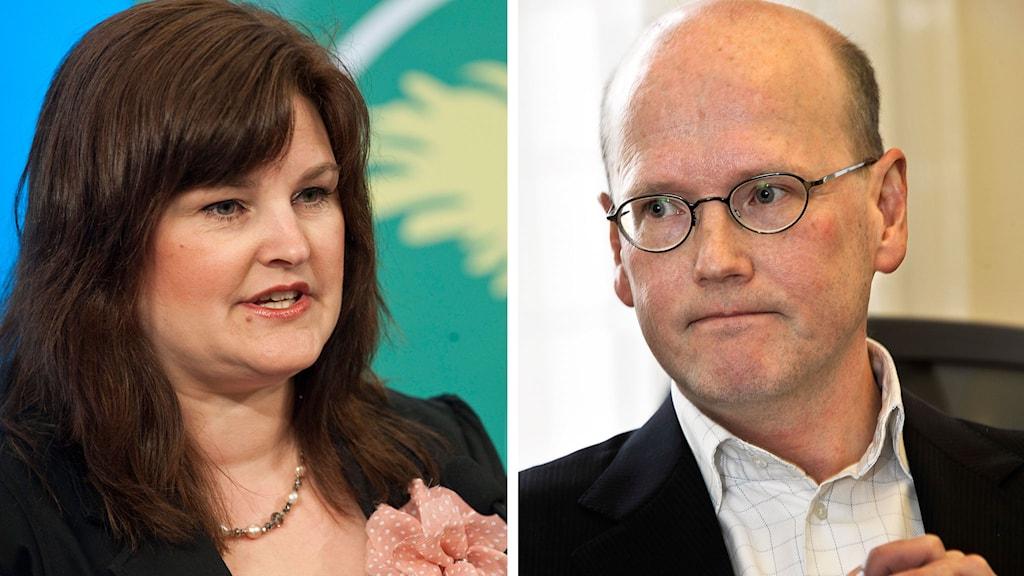 Mikaela Valtersson och Thomas Östros