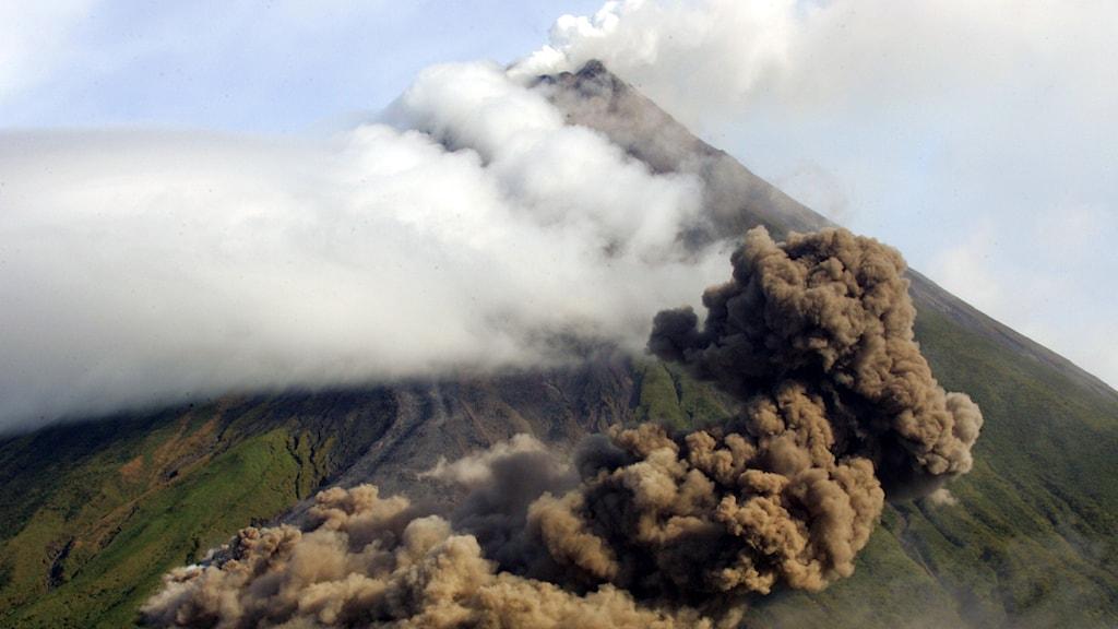 Vulkanen Mayon i Bicol, Filippinerna. Foto: Bullit Marquez/TT