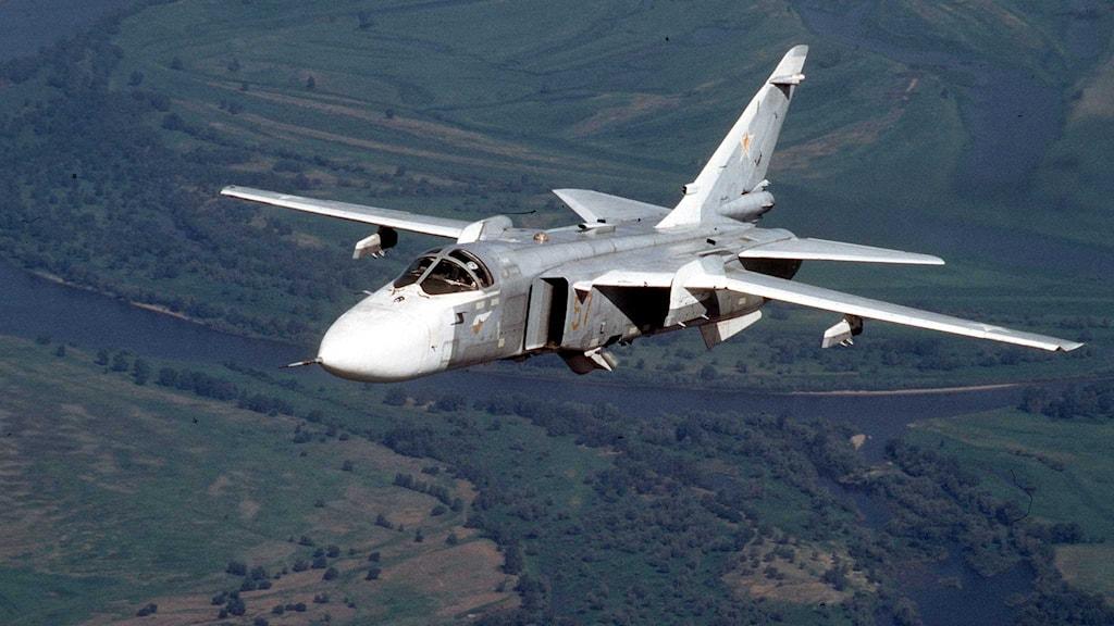 Planen som ska ha flugit över svensk luftrum var av typen su-24.