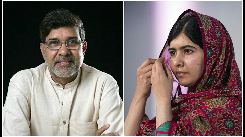 Kailash Satyarth och Malala Yousefzai