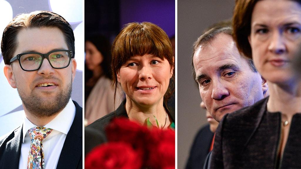 Jimmie Åkesson, Åsa Romson, Stefan Löfven, Anna Kinberg Batra