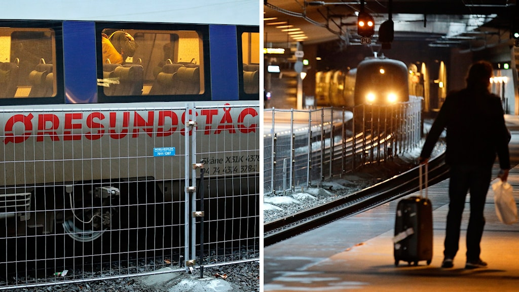 The new fence at the Kastrup train station, Photo: Jens Dresling/TT