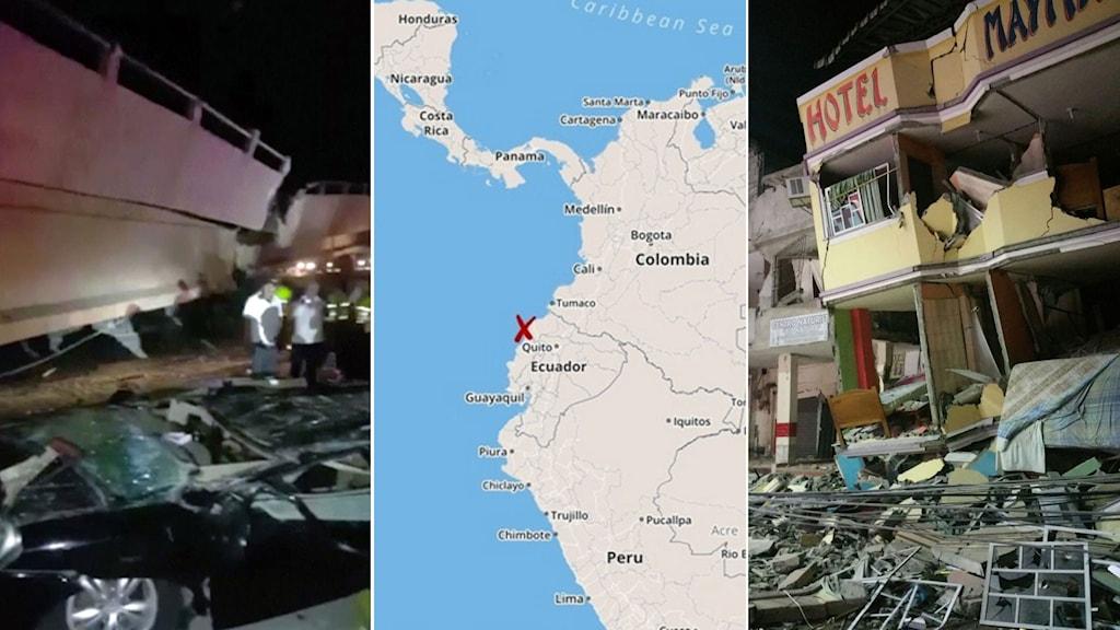 ecuador jordbävning