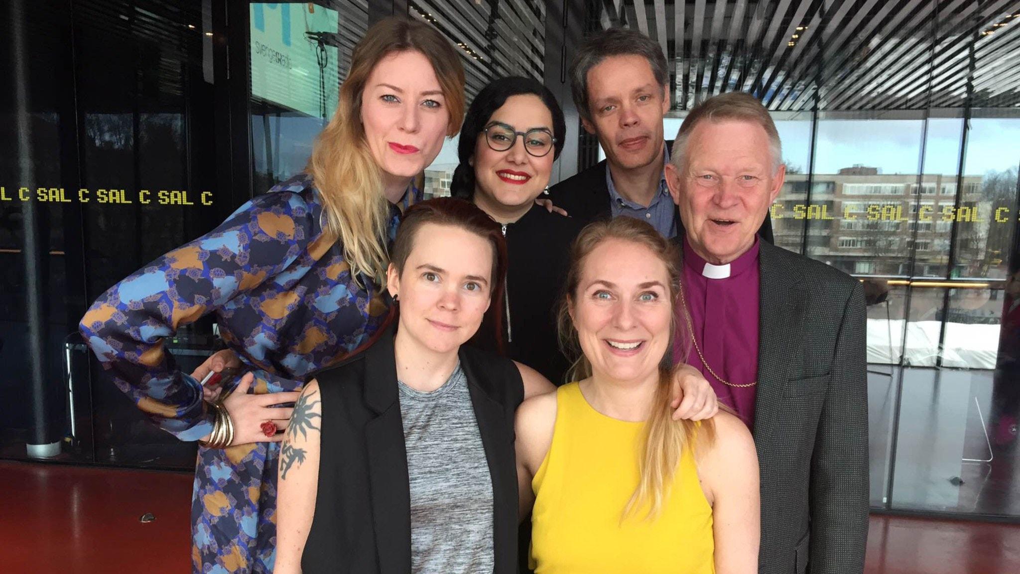 Anders Wejryd, Ulf Danielsson, Sonja Schwarzenberger och Tina Mehrafzoon tävlar när Lantzkampen sänder inför publik i Uppsala!