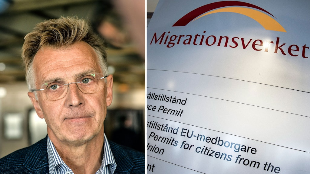 Anders Danielsson and the Swedish Migration Agency logo