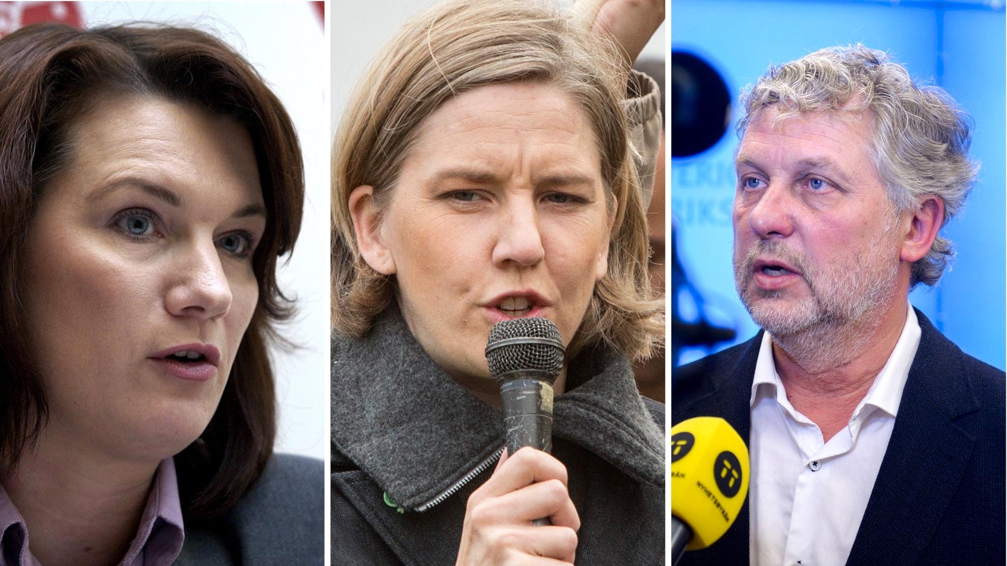 Ann Linde , Karolina Skog och Peter Eriksson.