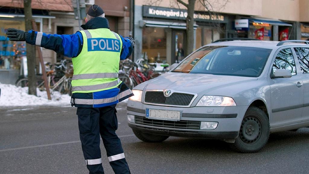 Poliskontroll. Foto: Bertil Ericsson/Scanpix
