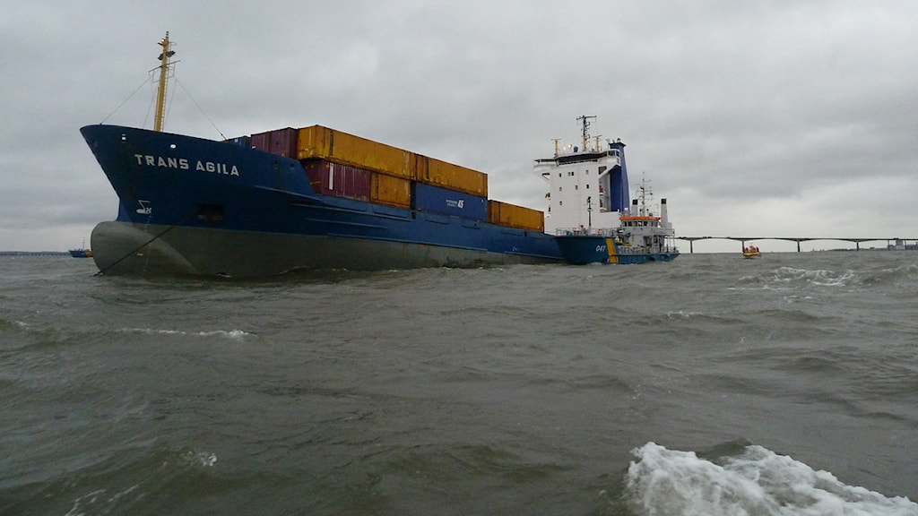 Fartyget Trans Agila. Foto: Kustbevakningen.