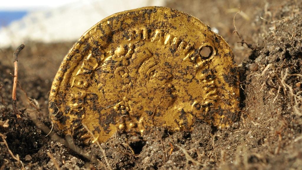 sandby borg guldmynt. Foto: Solidus pressbild