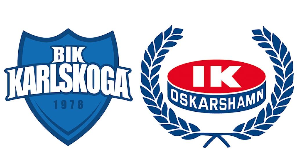 Klubbmärken  Karlskoga och IK Oskarshamn