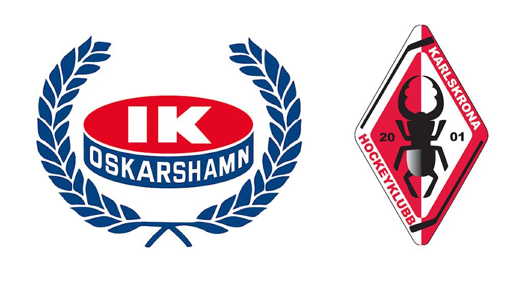 Klubbmärken IK Oskarshamn och Karlskrona